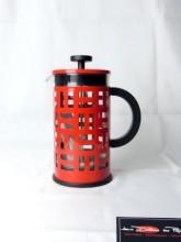 Cafetière à piston Eileen rouge 8 tasses