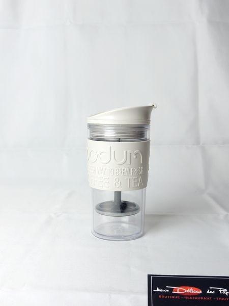 mug blanc isotherme bodum 35cl aux d lices des papilles. Black Bedroom Furniture Sets. Home Design Ideas