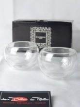 Set 2 tasses en verre bulles Dammann 125ml