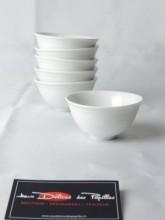 Set 6 bols blancs