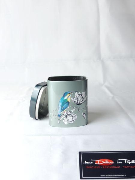 Boite à thé métal Charme bleu 100g