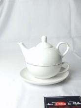 Solitaire en porcelaine blanche