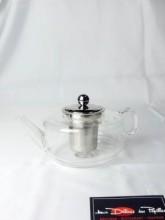 Théière en verre avec couvercle et infuseur inox 70cl