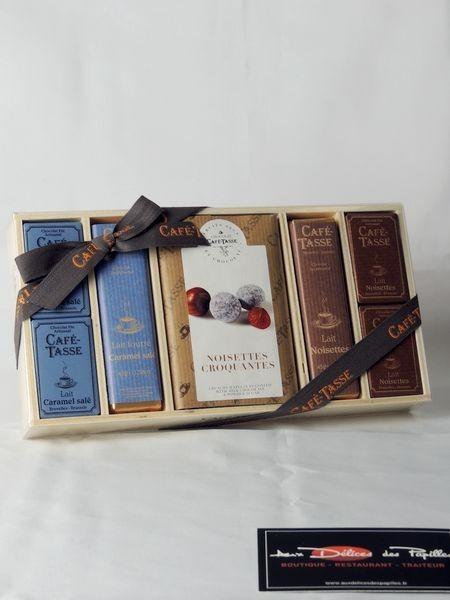 Coffret Aassortiment de chocolats Caramel et chocolats Noisette