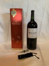 Magnum en étui avec bouchon inox Bordeaux mouton cadet rouge 150cl
