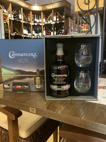 Coffret Connemara Peated Single Malt  Irish Whiskey + 2 verres
