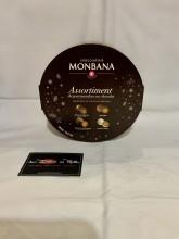 Boite ronde assortiment choco 360gr Monbana